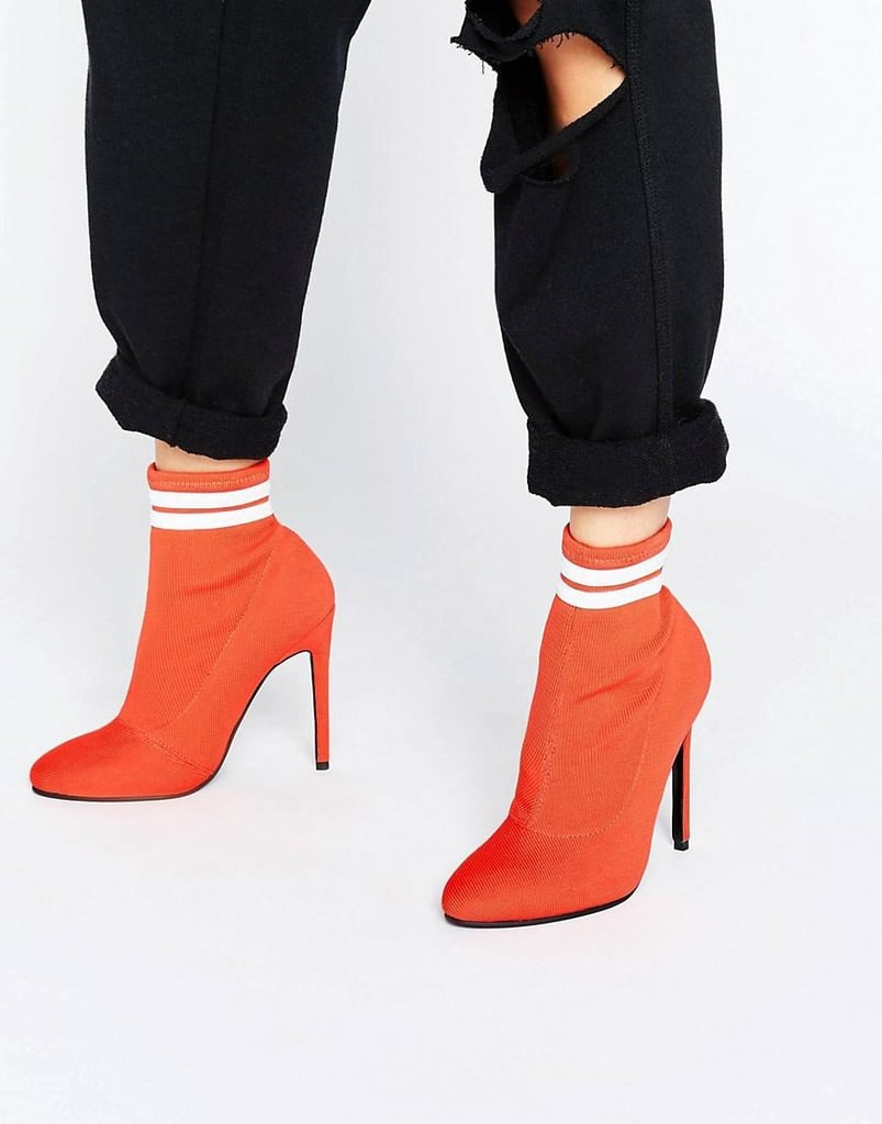 Asos's Ekron Elastic Sock Boots ($73) could stop traffic with their referee appeal.