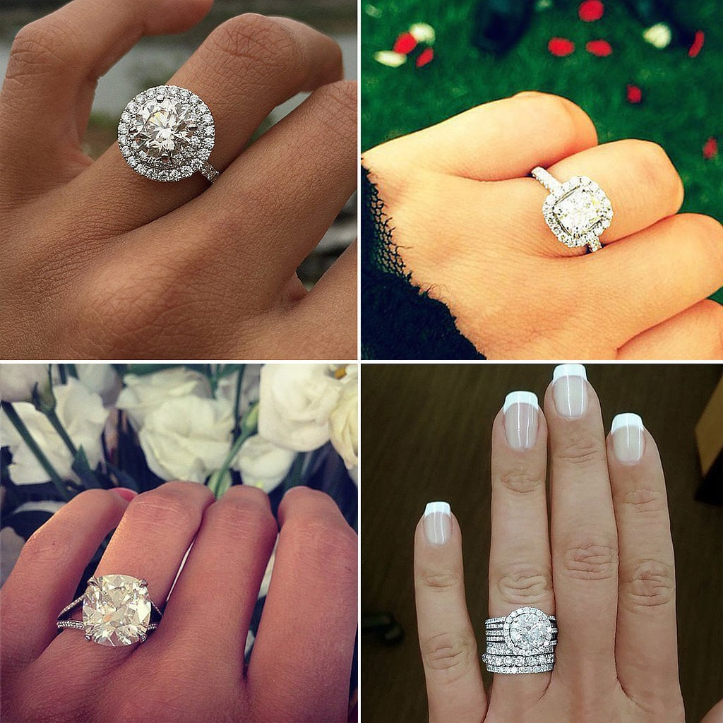 51 real girl engagement rings massive enough to ice skate on - Big Diamond Wedding Rings