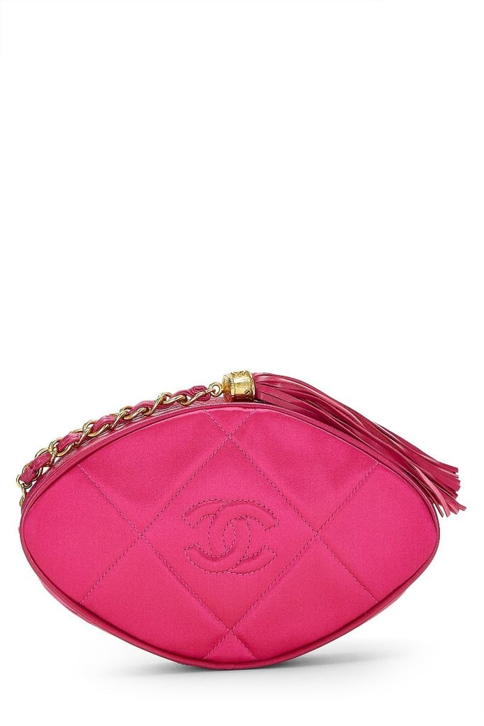 a1fdabed003b Chanel Pink Quilted Satin Tassel Clutch | Miley Cyrus Pink Chanel ...