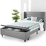 Mellow Platform Bed With Headboard and Bedside Storage Ottoman