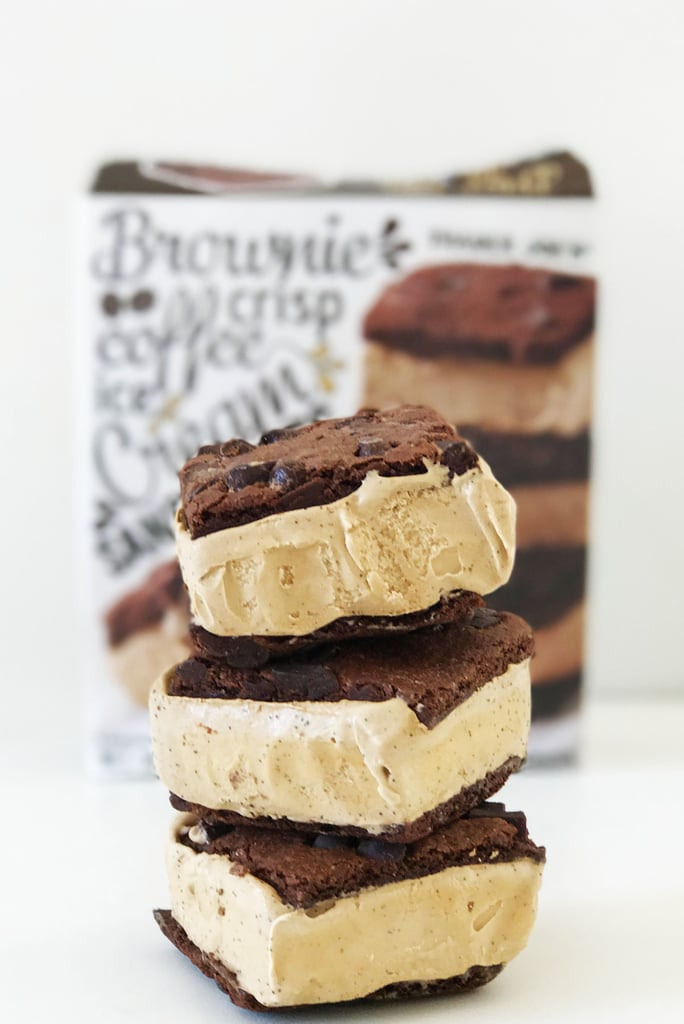 Brownie Crisp Coffee Ice Cream Sandwiches ($4)