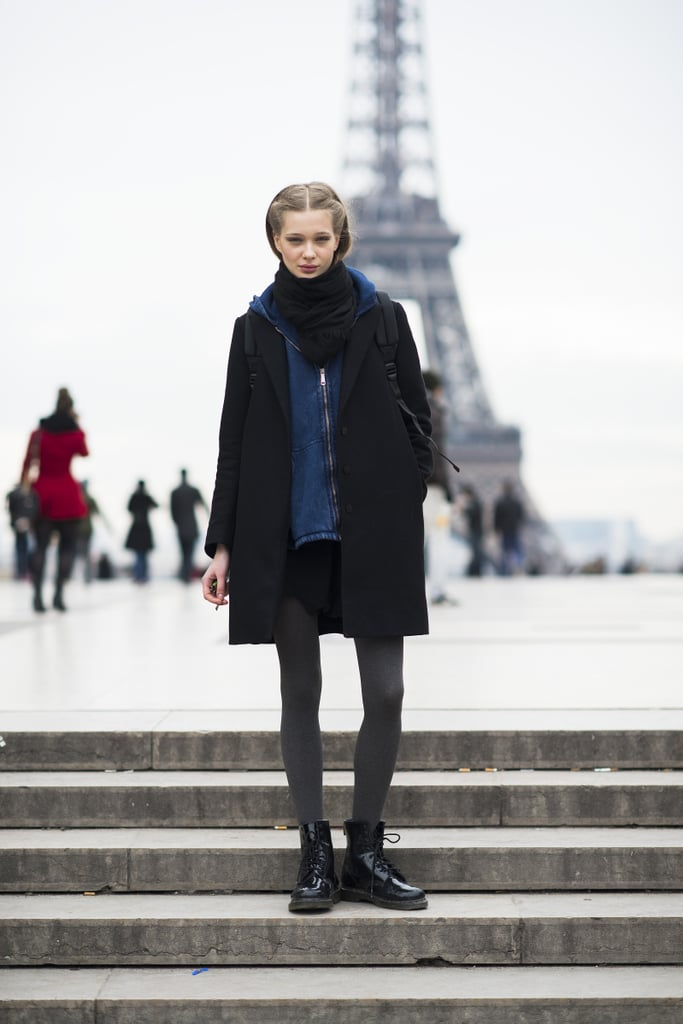 What's more Parisian chic than having the Eiffel Tower in the background of your portrait? Source: Le 21ème | Adam Katz Sinding