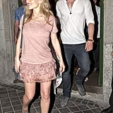 Chris Hemsworth and Elsa Pataky carried baby India out with them in Madrid.