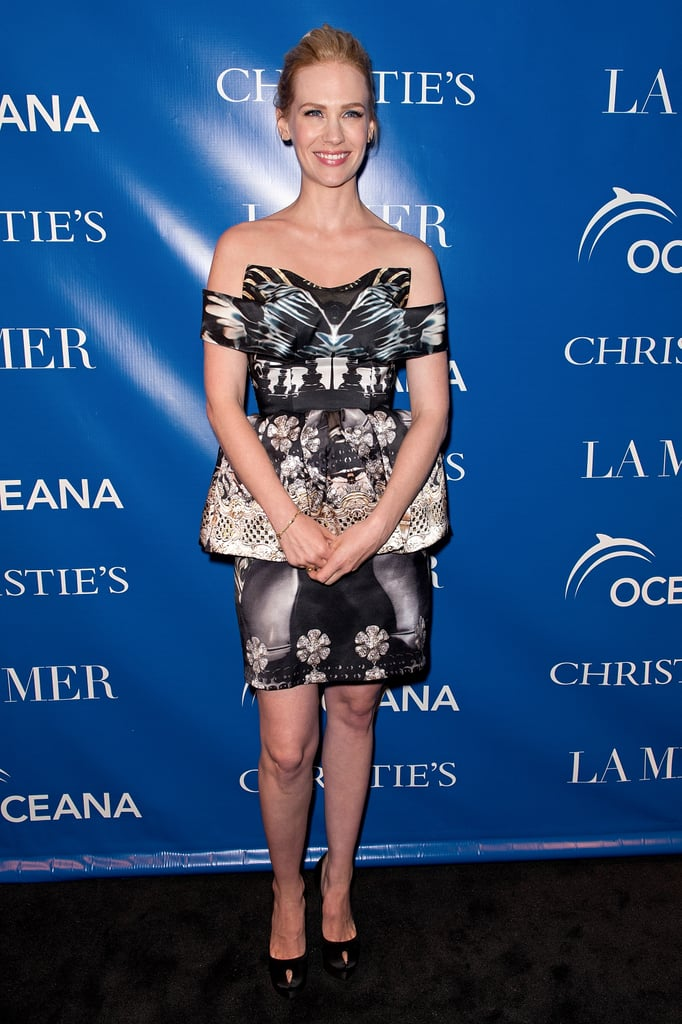 January Jones went to a screening of La Revolution Bleue in NYC rocking a Mary Katrantzou dress.