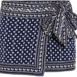 Etoile Isabel Marant Lyne Wrap-Effect Printed Cotton Mini Skirt ($220)