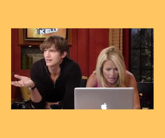 Ashton and Kelly Geek Out
