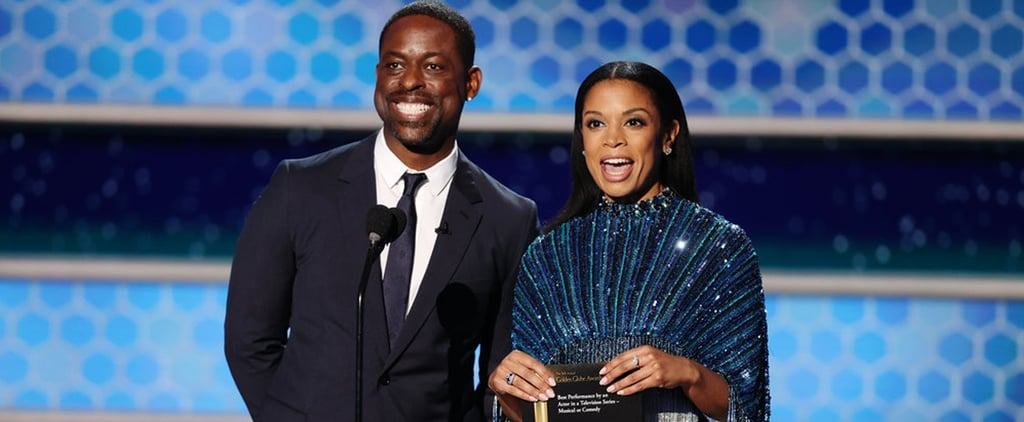 Sterling K. Brown and Susan Kelechi Watson at Golden Globes