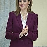 Queen Letizia of Spain stepped out in Madrid on Monday.