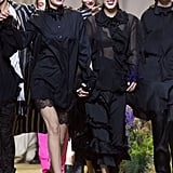 Gigi and Bella Held Hands at H&M Studio Fashion Show in Paris