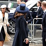 "When Meghan Made Her First Official Appearance With the Queen and William Checked on Her, Probably Saying, ""You Good, Meg?"""