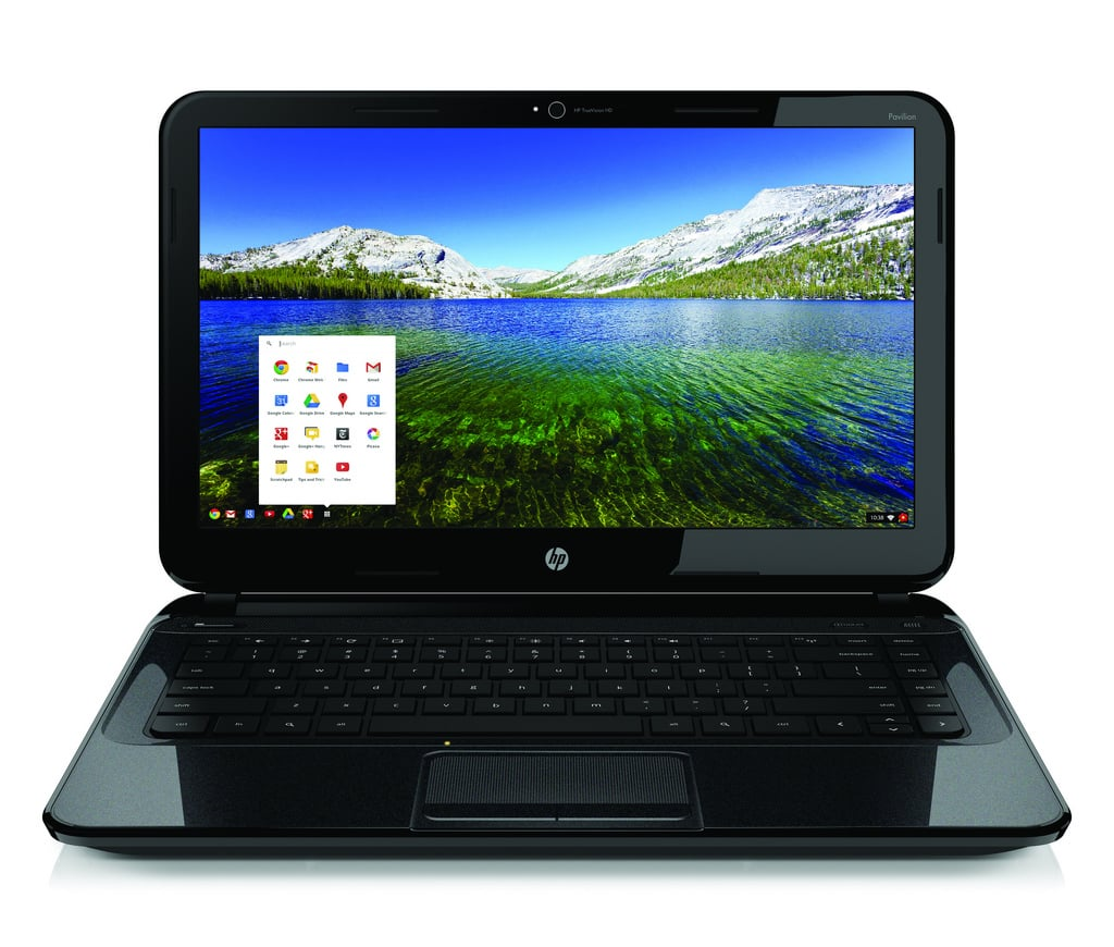 HP's Chromebook has a full-size keyboard, an HD webcam with integrated microphone, and Altec Lansing speakers.