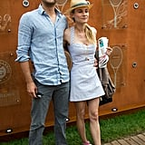 This is on our list of must-mimic styles: Diane Kruger outfitted a sweet Marios Schwab dress with pink Converse at the French Open with her beau, Joshua Jackson.
