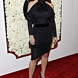 Kim Kardashian dressed up for QVC's Buzz on the Red Carpet party and broadcast at the Beverly Hills Four Seasons Hotel.