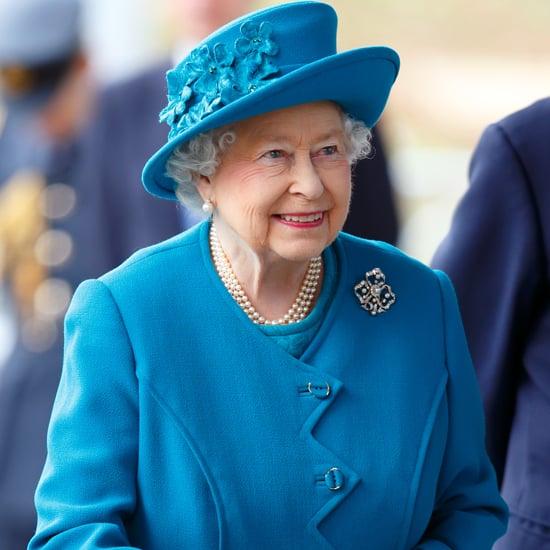 Queen Elizabeth Wearing a Blue Coat and Hat