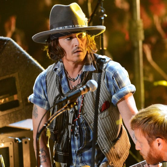 Johnny Depp Pictures Playing With The Black Keys at 2012 MTV Movie Awards