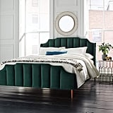 Rivet Gwyneth Mid-Century Velvet Queen Bed