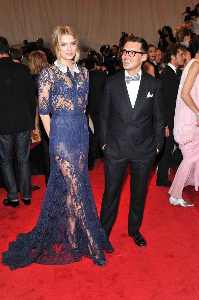 Lily Donaldson in Erdem.