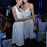 Candice Swanepoel posed with Karlie Kloss.