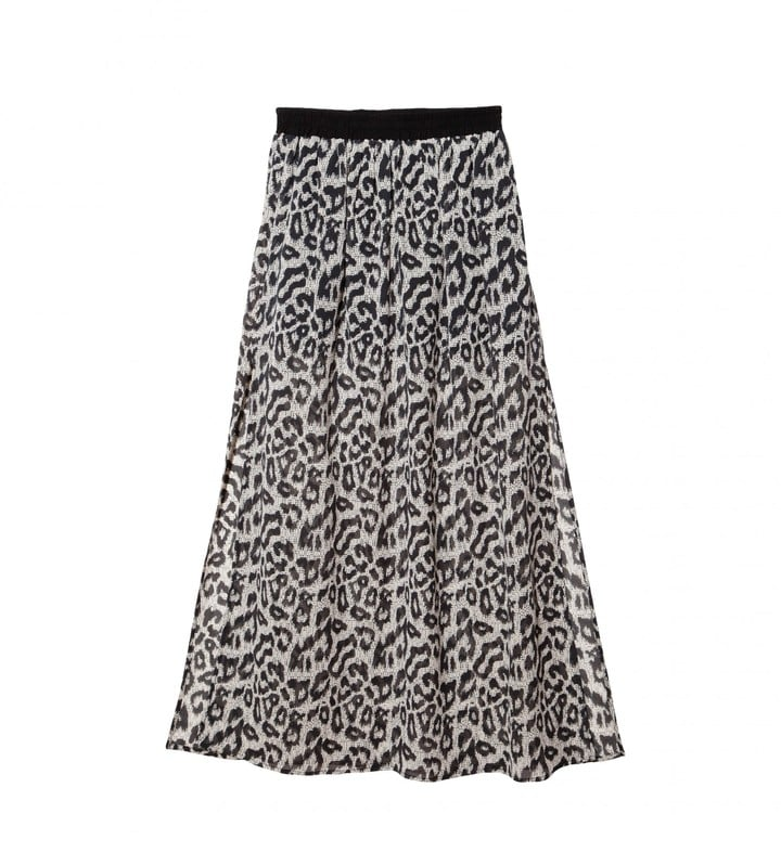 Sea Leopard Printed Maxi Skirt