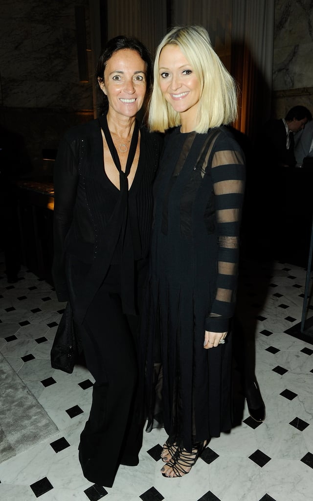 Zanna Roberts Rassi was sheer perfection while feting London Fashion Week with Daniela Agnelli.