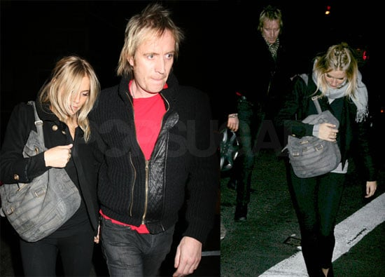 Sienna Miller and Rhys Ifans in New York City