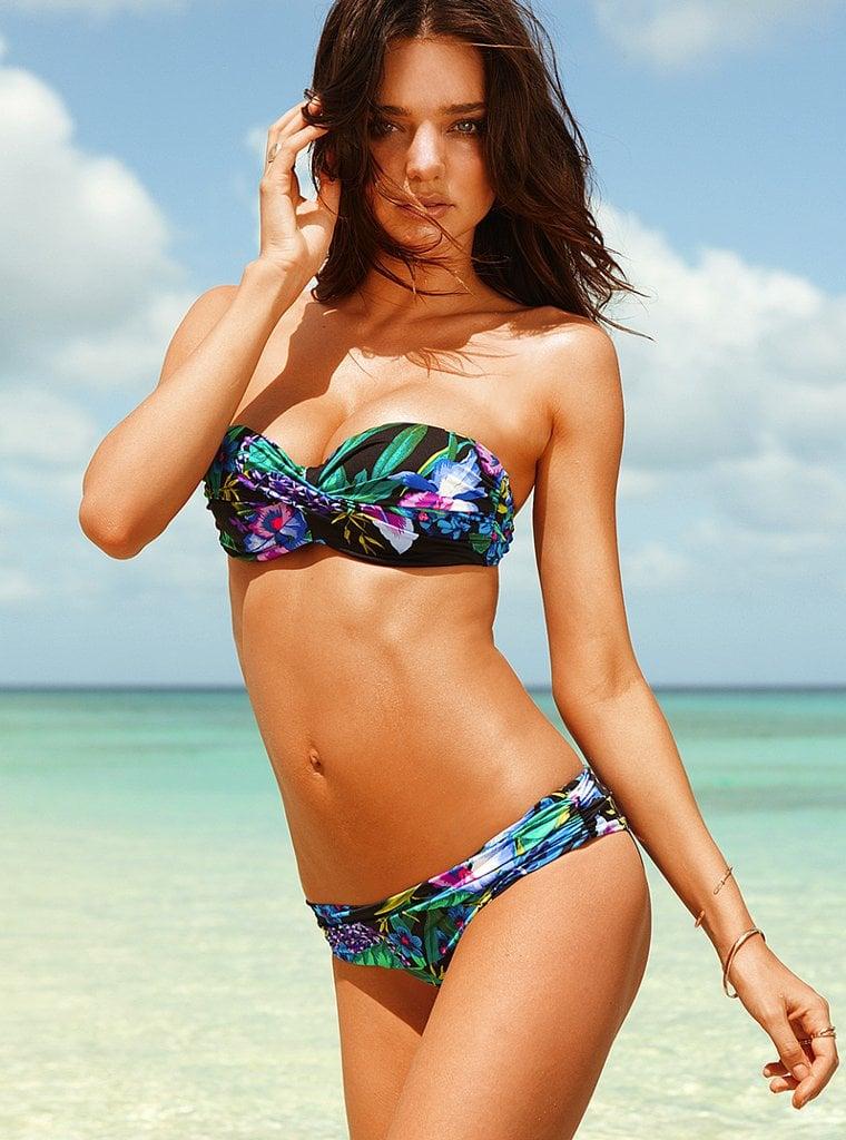 Miranda Kerr in a strapless bikini.