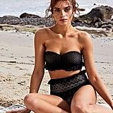 Nightcap Mesh Lace Bandeau Bikini Top and Bottom