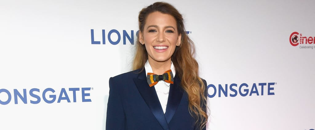 Blake Lively Blue Sonia Rykiel Blazer Dress