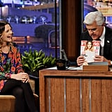 Drew Barrymore swung by The Tonight Show.