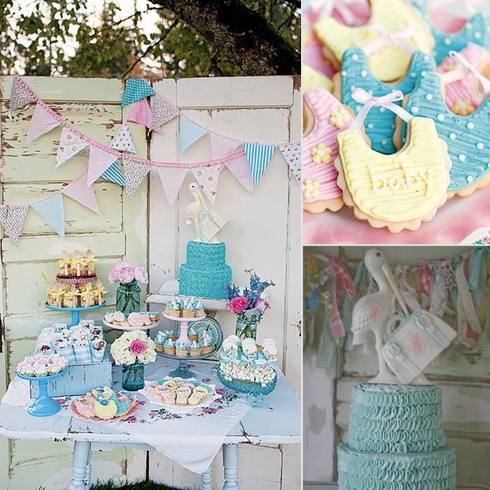 Baby Shower Decorations Vintage ~ Vintage themed baby shower popsugar moms