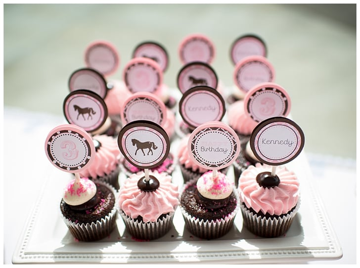 Pink And Brown Cupcakes Pony Birthday Party Ideas