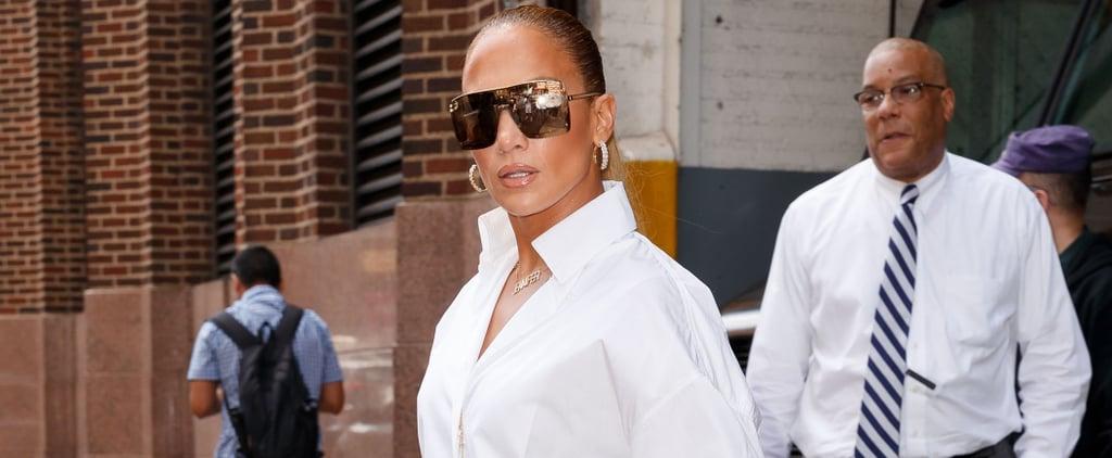 Jennifer Lopez Denim Boots Versace 2018