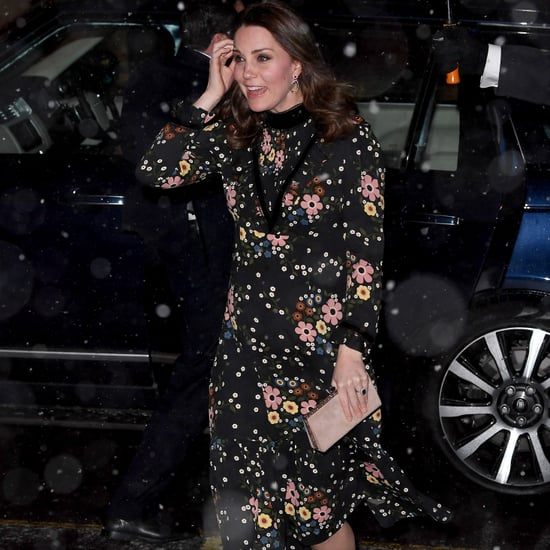 Kate Middleton Black Floral Dress
