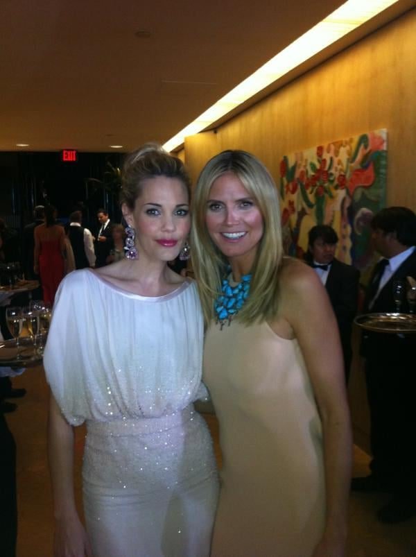 Heidi Klum hit the InStyle Golden Globes afterparty with Leslie Bibb. Twitter User: heidiklum