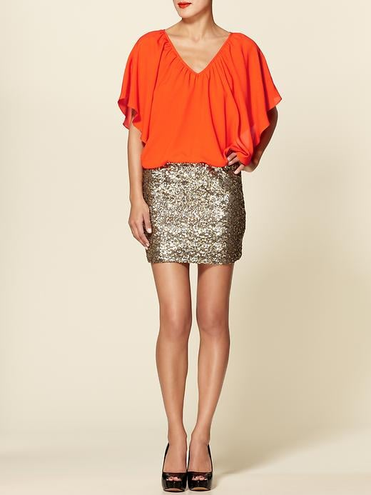 Brights meet sequins for an unexpectedly awesome rendition of the party dress.  C.Luce Sequin Skirt Dress ($84)