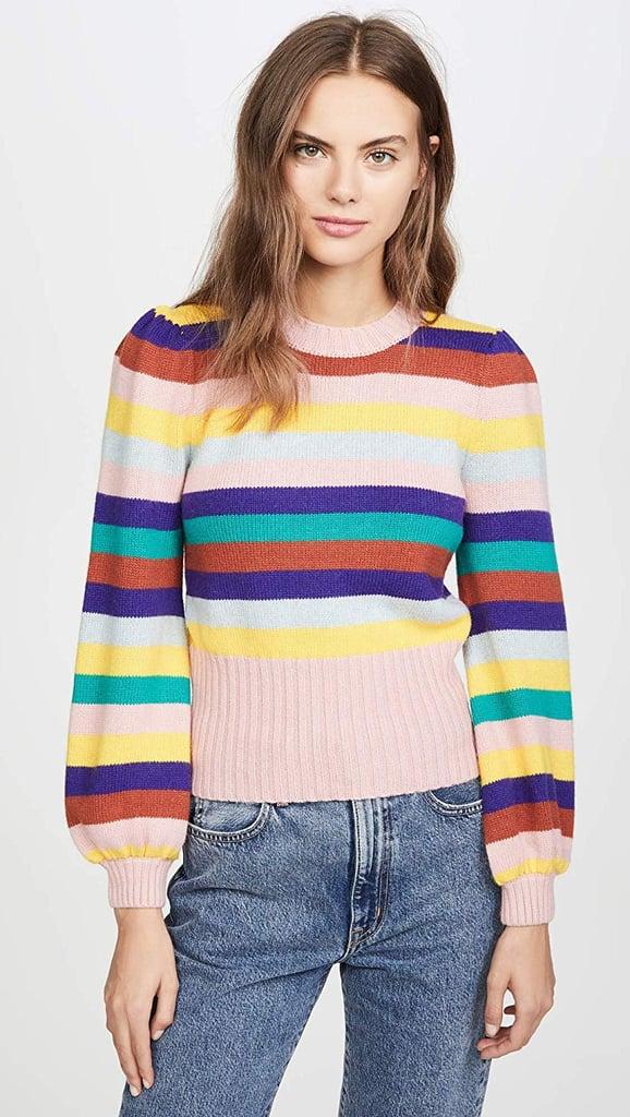 Rachel Antonoff Bridget Puff-Sleeve Sweater