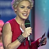 Pink sported a curly 'do on TRL in 2001.
