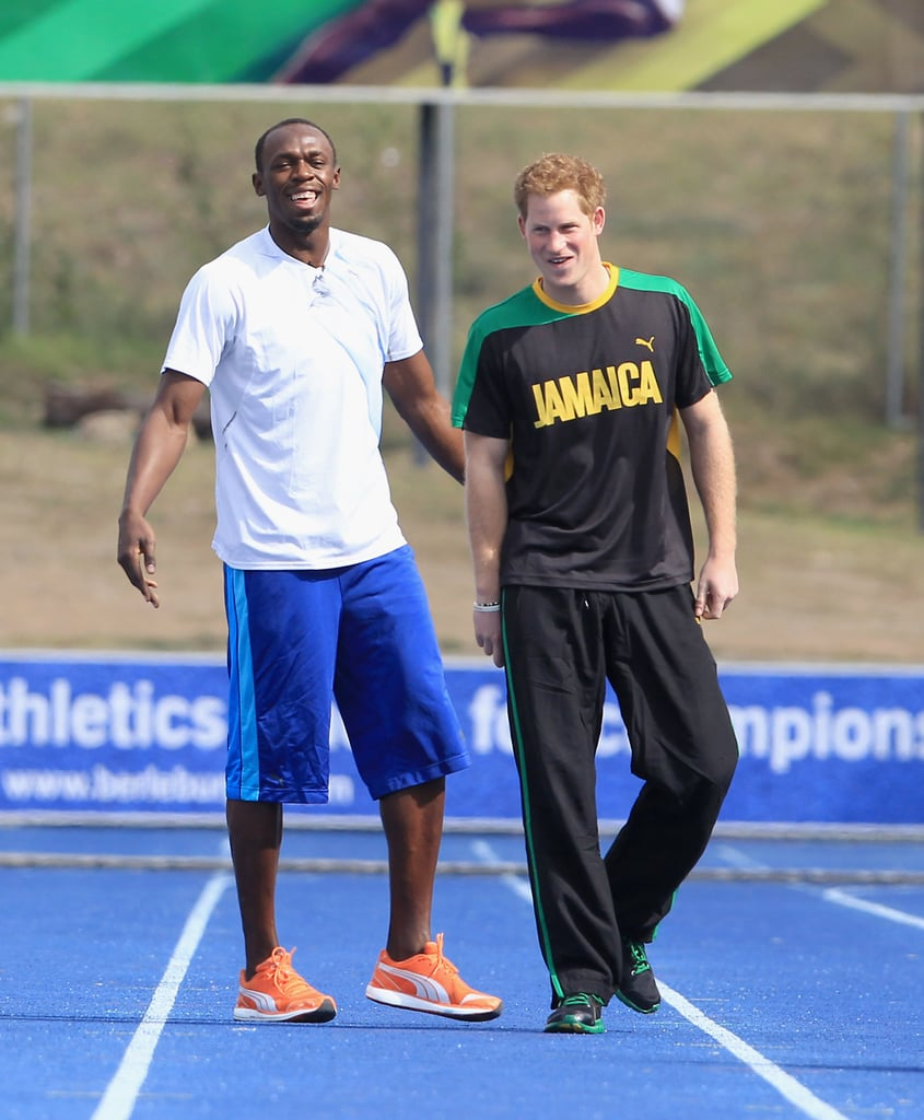 Funny Prince Harry Pictures With Usain Bolt In Jamaica
