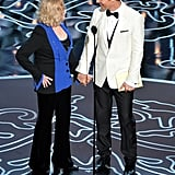 Matthew McConaughey held hands with Kim Novak as they presented an award.