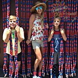 Britney and her boys recreated her Oops! . . . I Did It Again album cover at Disneyland over the Fourth of July weekend in 2015.