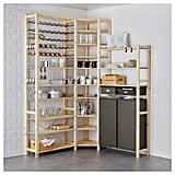 Ivar 3-Section Shelving Unit With Cabinets