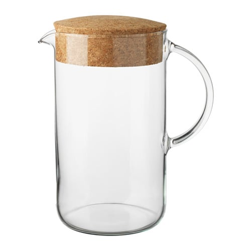 Glass and Cork Pitcher