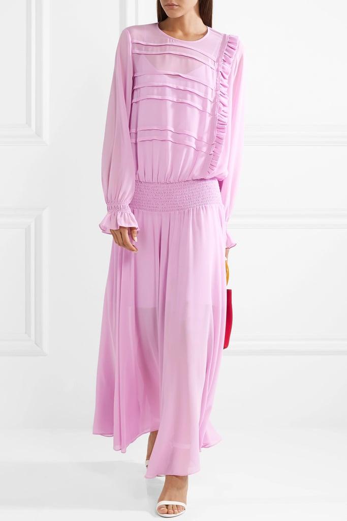 Preen Line Salome Smocked Maxi Dress