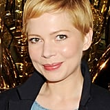 Michelle Williams posed at Mulberry.