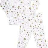 Skylar Luna Star-Print Sleep Set-White