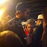 Robert Pattinson had a beer in London.
