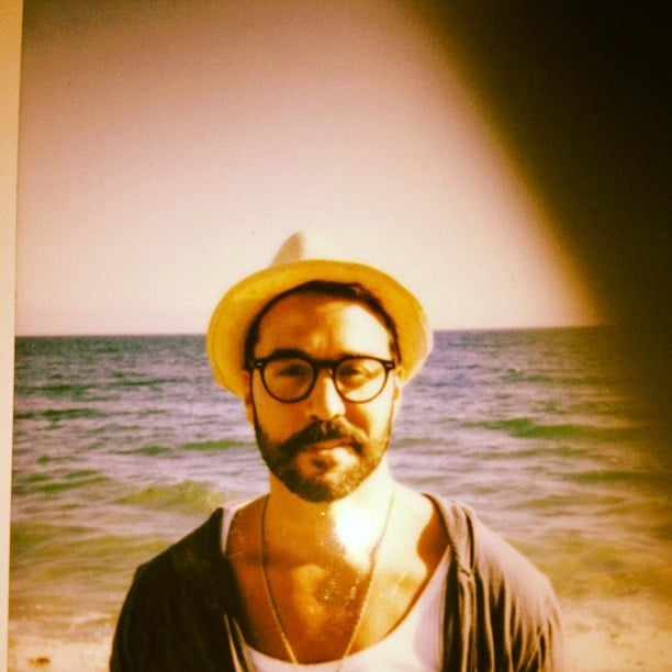 Jeremy Piven looked geek chic while spending his birthday at the beach. Source: Instagram user howulivinjpiven