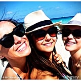 Nina Dobrev shared a snap from her sunny beach vacation with pal Julianne Hough. Source: Nina Dobrev on WhoSay