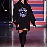 Bella Walked the Tommy Hilfiger Runway in a Graphic-Print Sweatshirt