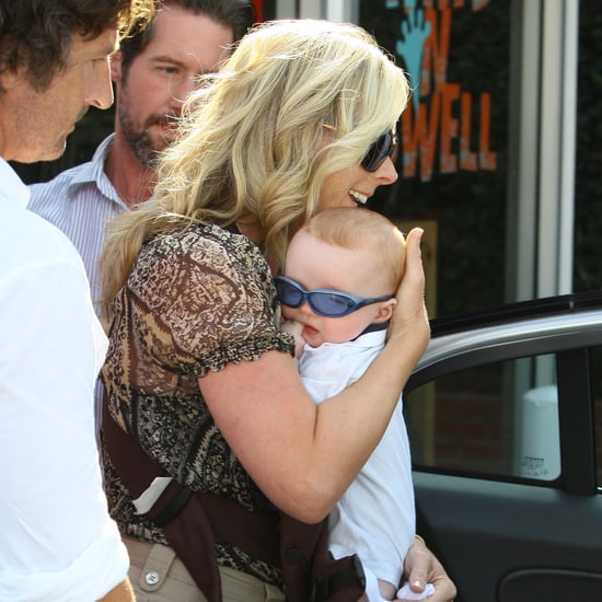 Jane Krakowski and Baby Bennett at Fred Segal in LA Pictures